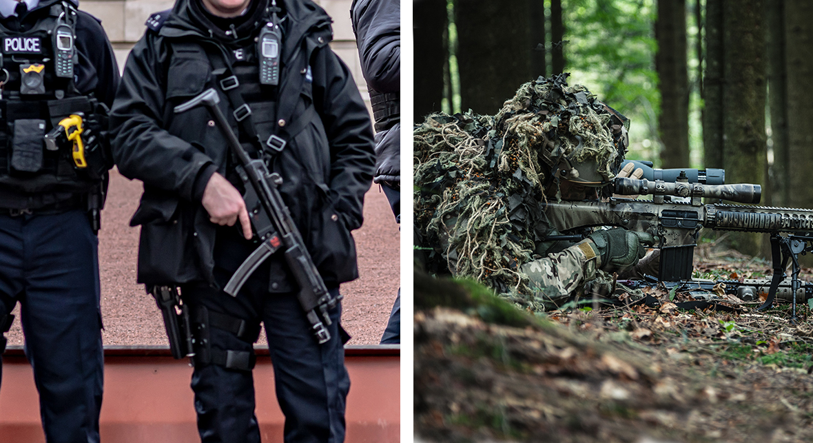 uk military and police riffles